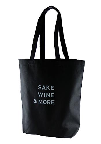 SAKE WINE & MORE エコバッグ 黒
