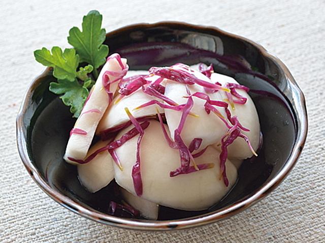 菊とかぶの酢漬