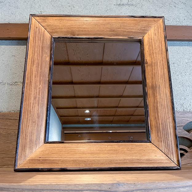 No.23 黒柿の額縁の鏡
