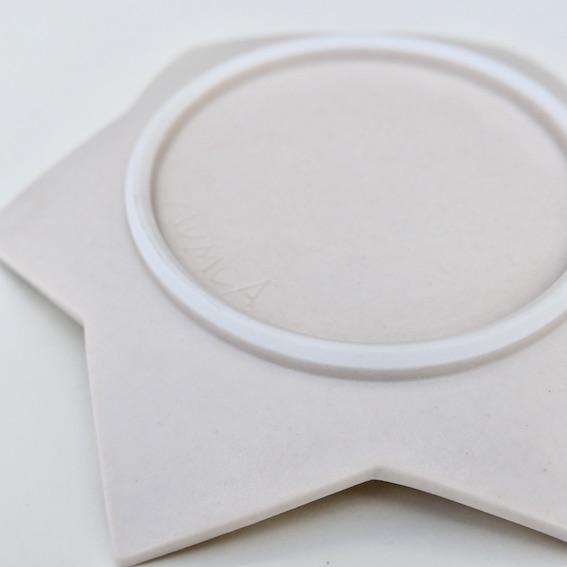 マムカ オリジナル 星形 水玉小皿