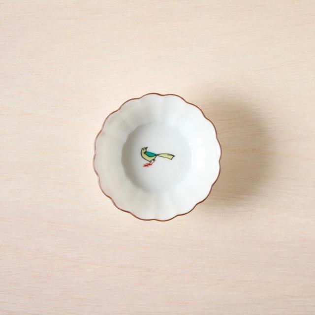 クタニシール 菊小鉢 小鳥