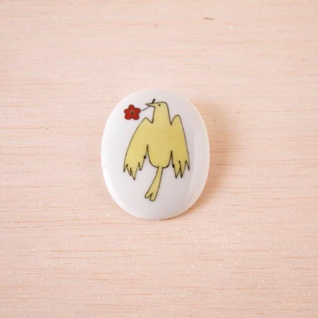 クタニシール 小鳥のブローチ/カナリア