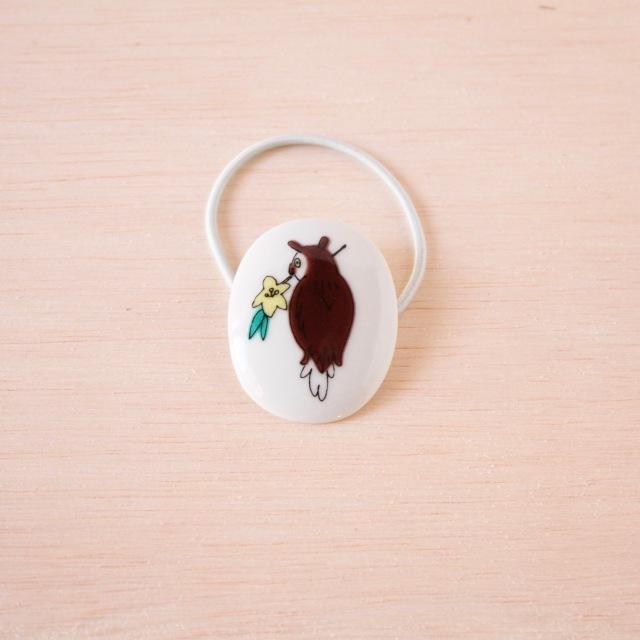 クタニシール 小鳥のヘアゴム/コノハズク