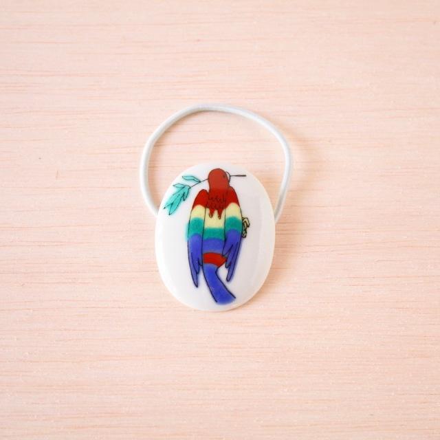 クタニシール 小鳥のヘアゴム/コンゴウインコ