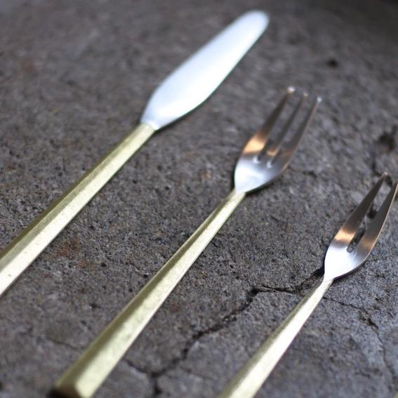 真鍮のFUTAGAMI 二上のカトラリー
