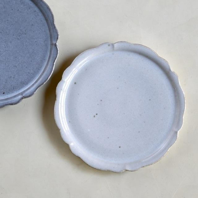 たくまポタリー 6寸プレート 輪花