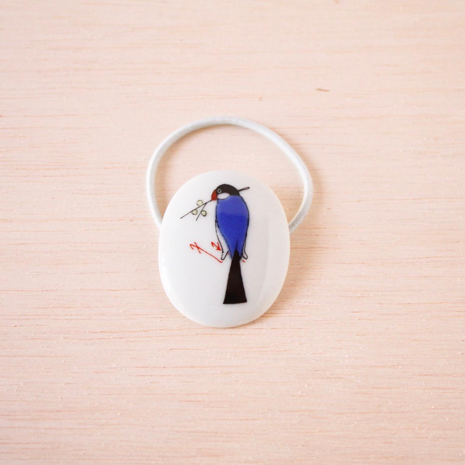 クタニシール 小鳥のヘアゴム/ブンチョウ