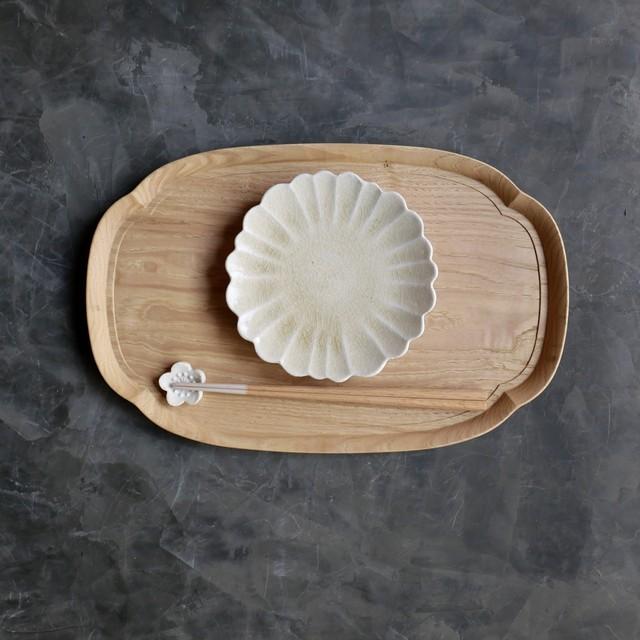 たくまポタリー 5寸皿 ハナ 灰釉