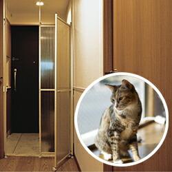 猫 脱走防止パーティション キャキャ(CatCatch)
