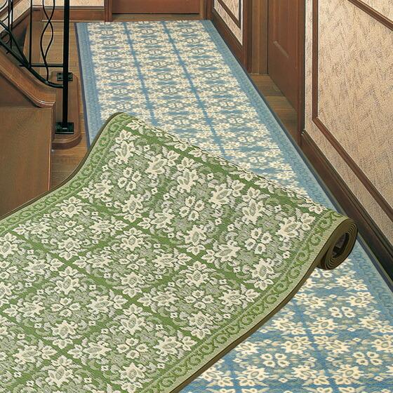 緑茶染 三重織 国産い草廊下敷 ガイア 80×250