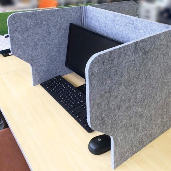 吸音ブーススタンド 幅100 ( 防音 吸音 フェルトボード Felmenon パーテーション テレワーク用 簡易ワークスペース 折り畳み式 コンパクト ウイルス対策 感染予防 )
