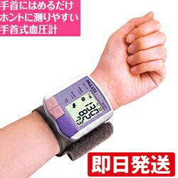 血圧計 手首 正確 手首式 デジタル血圧計 NISSEI WS-820