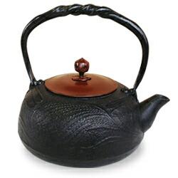 IH対応南部鉄瓶 銅蓋 とんぼ1.2L