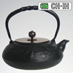 IH対応南部鉄瓶 銅蓋 瓢1.2L