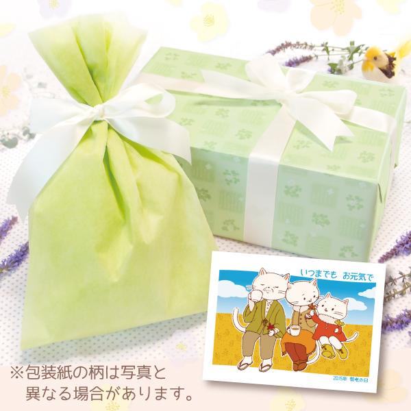 【単品注文不可】無料ラッピング+メッセージカードNo.11「敬老の日ねこのおじいちゃんおばあちゃん(青空)」