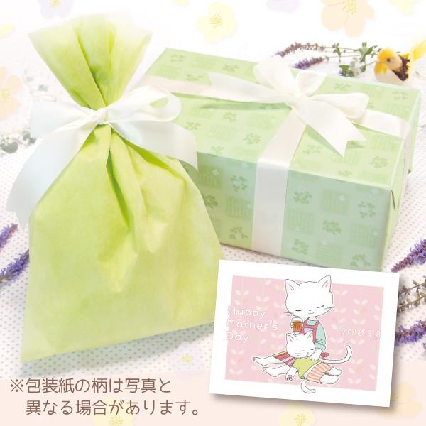【単品注文不可】無料ラッピング+メッセージカードNo.16「母の日ねこ膝枕(ピンク)」