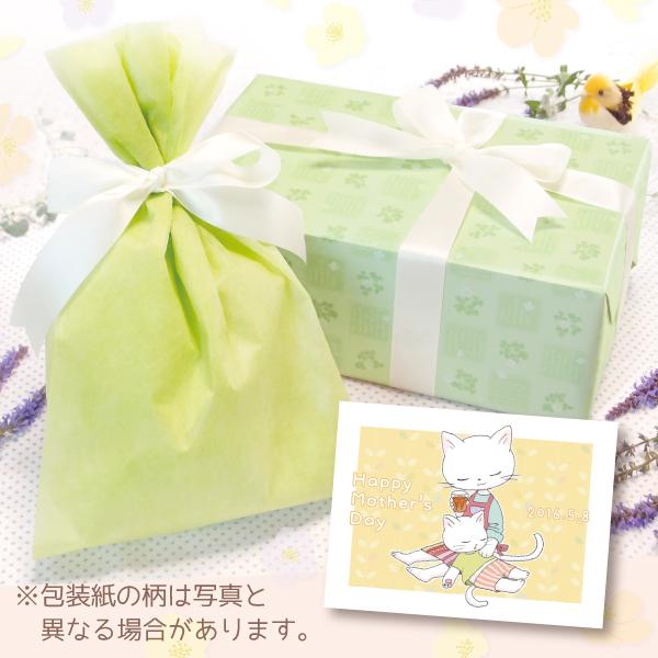 【単品注文不可】無料ラッピング+メッセージカードNo.17「母の日ねこ膝枕(黄色)」