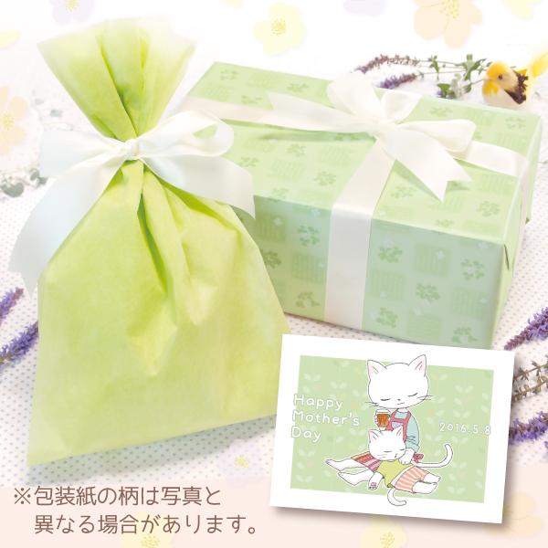 【単品注文不可】無料ラッピング+メッセージカードNo.18「母の日ねこ膝枕(キミドリ)」