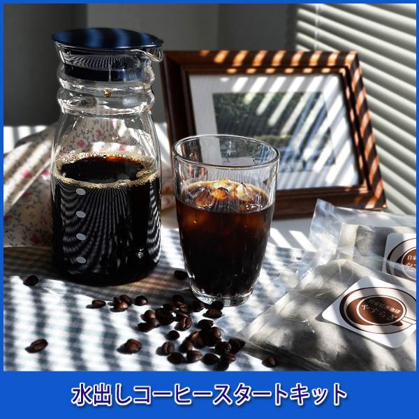 [水出しコーヒースタートキット]ハリオフリーポット700&極上のコーヒー豆福袋 ハリオ製FP-7DBU+水出しバッグ200g(細挽き)