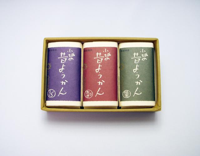 昔ようかん(小) 小豆と抹茶と白 三本詰【八頭司伝吉本舗】小城羊羹 150g×3本