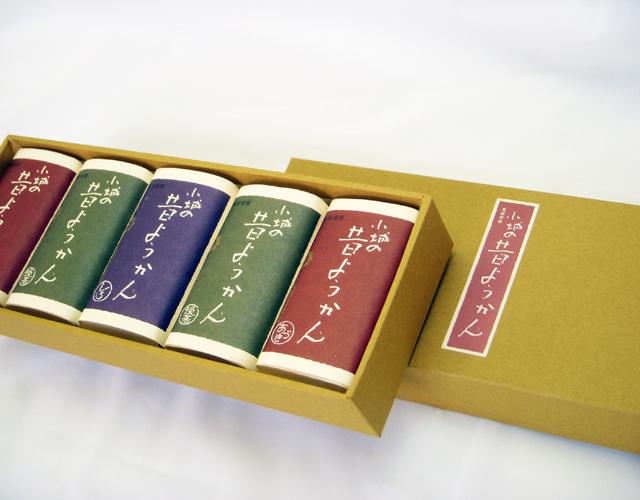 昔ようかん(小) 小豆×2と抹茶×2と白 五本詰【八頭司伝吉本舗】小城羊羹 150g×5本
