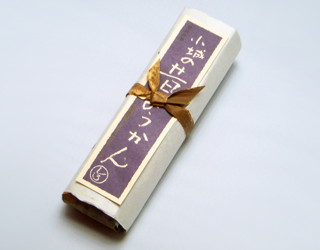 昔ようかん(大) 白 一本詰【八頭司伝吉本舗】小城羊羹 400g×1本