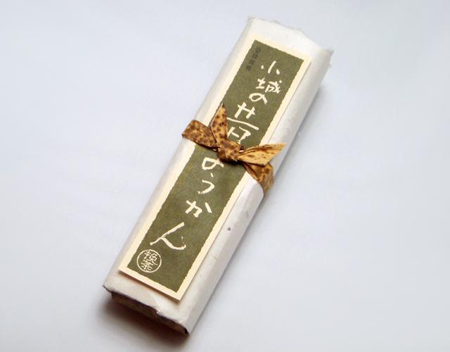 昔ようかん(大) 抹茶 一本詰【八頭司伝吉本舗】小城羊羹 400g×1本