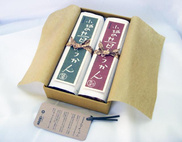 昔ようかん(大) 小豆と抹茶 二本詰【八頭司伝吉本舗】小城羊羹 400g×2本