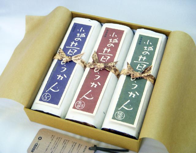 昔ようかん(大) 小豆と抹茶と白 三本詰【八頭司伝吉本舗】小城羊羹 400g×3本