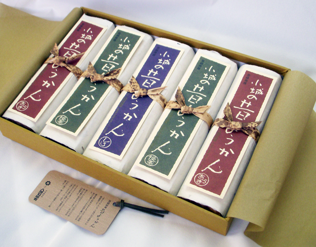 昔ようかん(大) 小豆×2と抹茶×2と白 五本詰【八頭司伝吉本舗】小城羊羹 400g×5本
