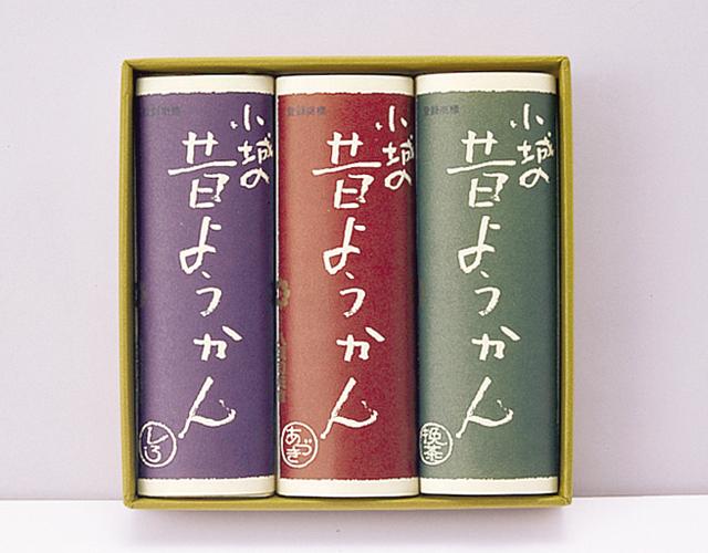 昔ようかん(中) 小豆と抹茶と白 三本詰【八頭司伝吉本舗】小城羊羹 300g×3本