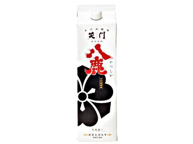 普通酒にして銘酒 【笑門 八鹿】 パック 1800ml