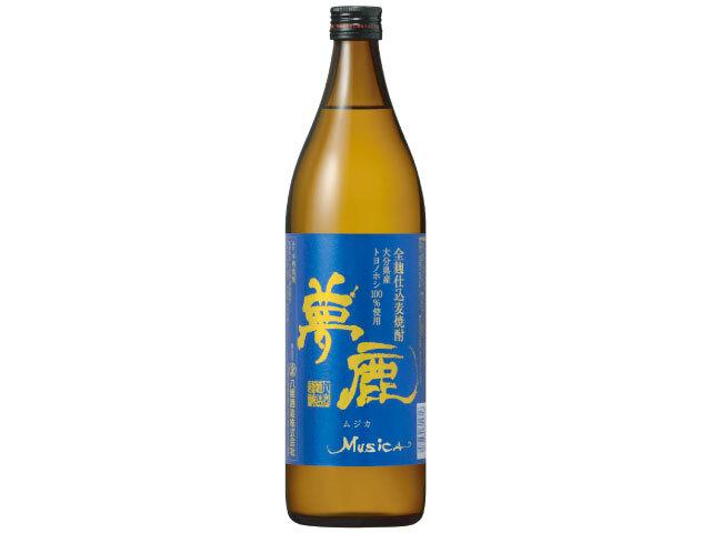大分県オリジナル大麦《トヨノホシ》使用 本格麦焼酎 【夢鹿ムジカ(青)】900ml