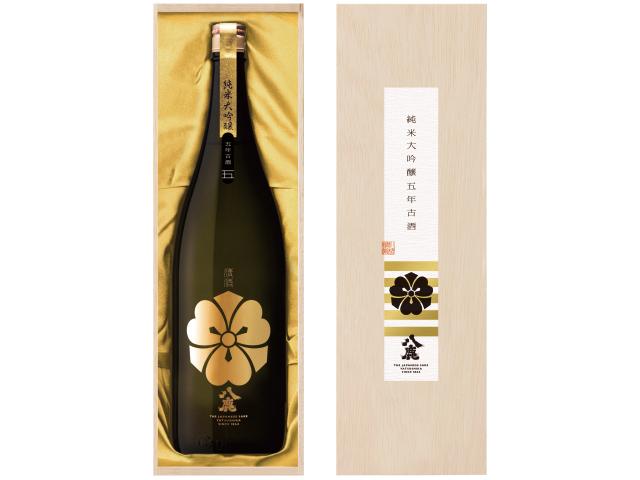 数量限定 【八鹿純米大吟醸(金)五年古酒】1800ml