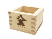 天然の木曽檜でつくった八鹿酒造ロゴ入りオリジナル枡(ます)