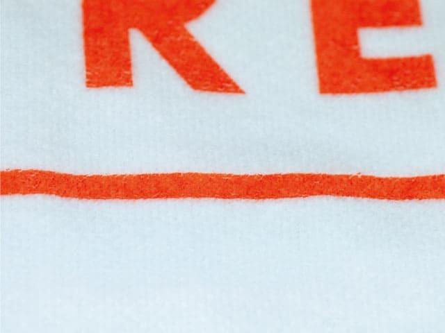 オリジナル ホワイトタオル シャーリング加工 スクリーン印刷