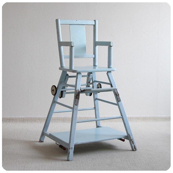 イギリス アンティーク 2way ペイントベビーチェア/椅子 J-786