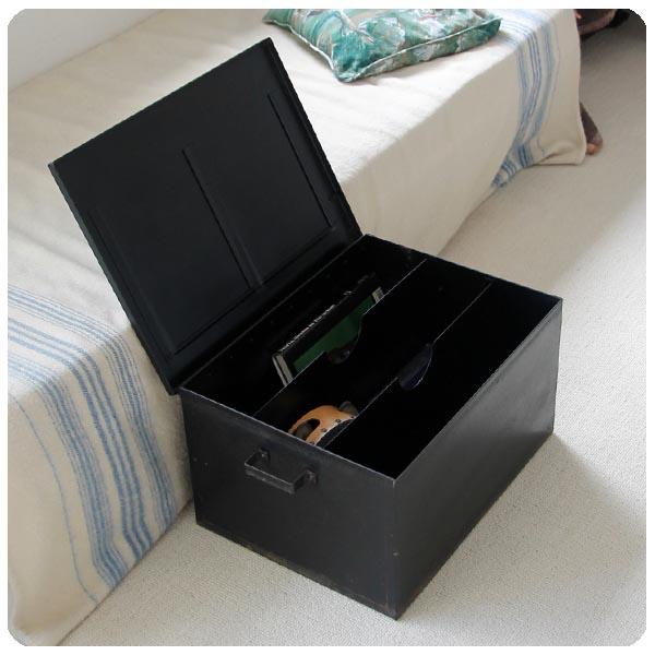 イギリス アンティーク家具 スチールボックス/書類入れ J-841