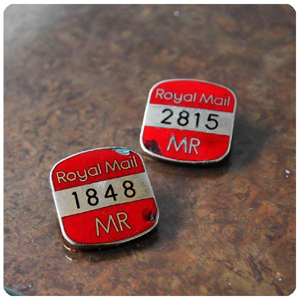 イギリス アンティーク ロイヤルメールバッジ2個セット/国営郵便局/コレクタブル/ポストマン/雑貨【ROYAL MAIL】M-589