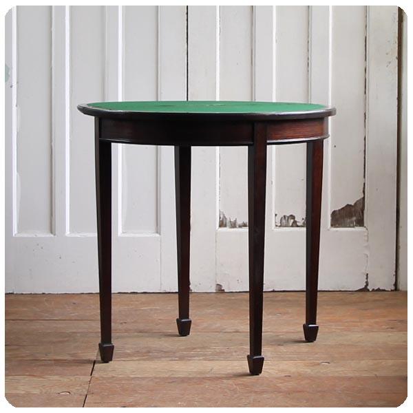 アンティーク ゲームテーブル/カードテーブル/イギリス【コンソールテーブルにいかが?】N-086
