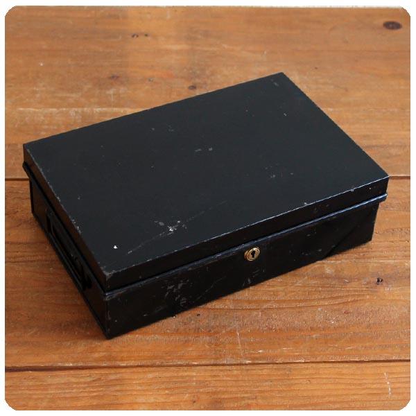 イギリス アンティーク 鍵付きキャッシュボックス/ツールボックス/雑貨/マネー/金庫【しっかりと施錠出来ます】N-684