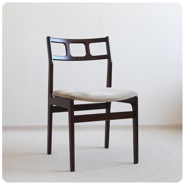 イギリス ビンテージ クッションチェア/北欧スタイル/ミッドセンチュリー【背もたれのフォルムが素敵な椅子】N-780