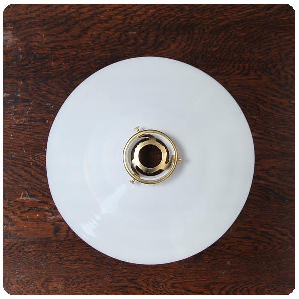 フランス アンティーク ミルクガラス ランプシェード/ペンダントライト/照明/店舗/カフェ/ライト傘【柔らかい光をお部屋に!】S-030