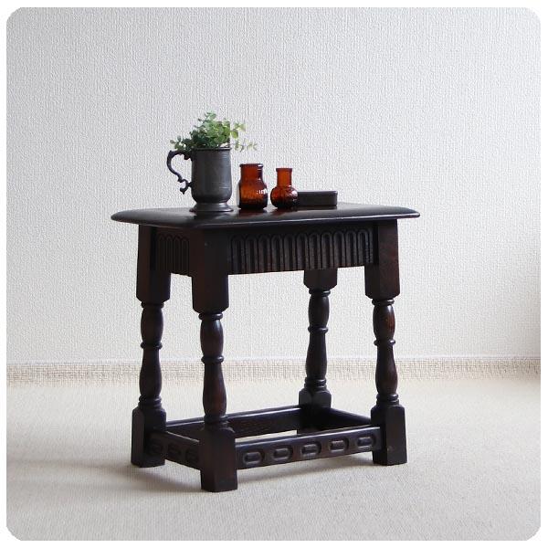 イギリス アンティーク スモールテーブル/オーク材/古木/スツール/飾り台/店舗什器【小ぶりなサイドテーブル】S-313