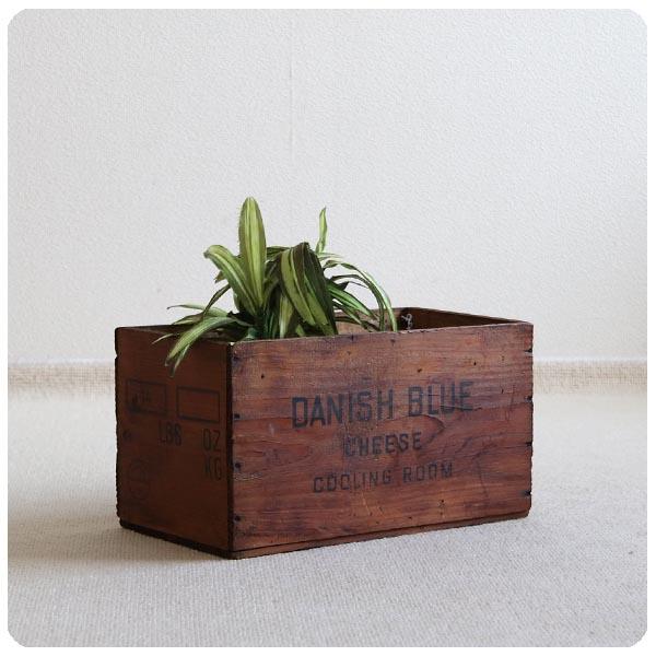 イギリス アンティーク オールドパインボックス/木箱/ケース/インテリア雑貨/ガーデニング【Danish Blue Cheese】S-456