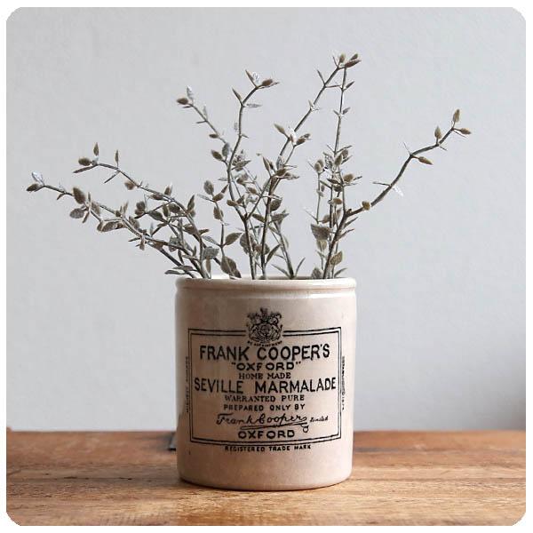 英国 アンティーク フランククーパー マーマレードジャー/ポット/陶器/ペン立て/花器/ボトル/イギリス【FRANK COOPER'S】S-579