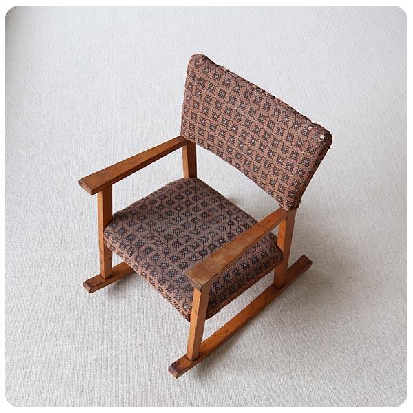 【訳あり】イギリス ビンテージ チャイルド ロッキングチェア/木製子供椅子/店舗什器/ディスプレイ【ドールチェアにも】S-695