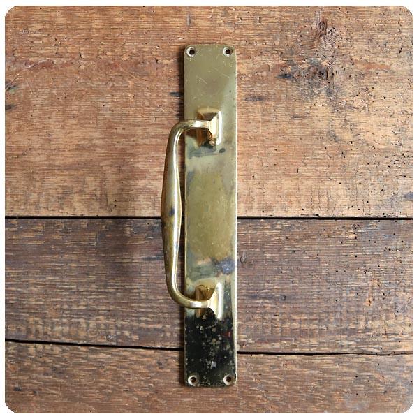 英国 アンティーク 真鍮製 ドアハンドル/取っ手/ブラス/建具/扉/店舗什器/金物/雑貨/イギリス【雰囲気パーフェクト】S-808