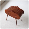 イギリス アンティーク 蛇腹のソーイングボックス/裁縫箱 J-782