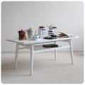 イギリス ビンテージ家具 ペイントコーヒーテーブル/ホワイト J-838